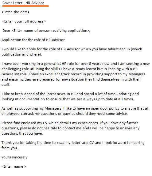 Do You Always Need A Cover Letter Hr Advisor Cover Letter Example Icover org Uk