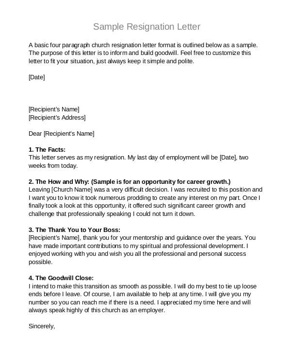 professional letter format