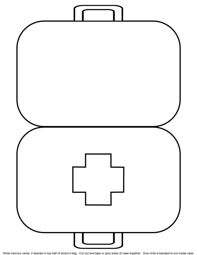 Doctor Bag Craft Template 5 Best Images Of Doctor Kit Printables for Preschool