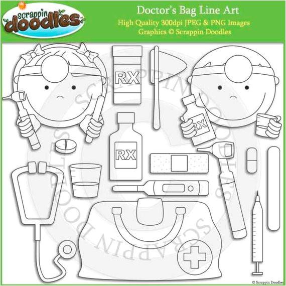 doctors bag line art
