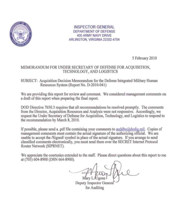 Dod Memo Template Army Memorandum Templates Free Premium Templates