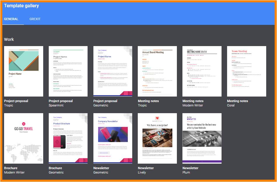 10 google docs templates