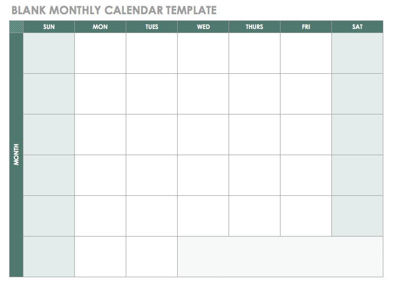 20 free calendar templates work personal planning