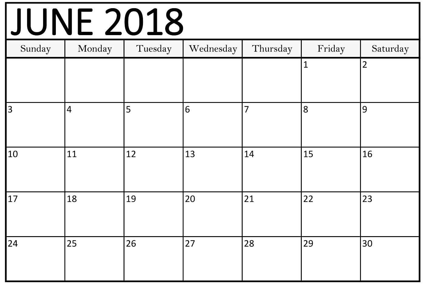 june 2018 calendar word printable