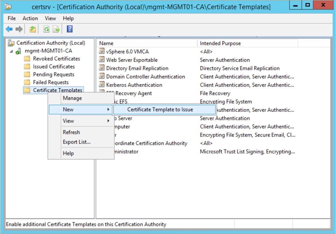 domain controller certificate template