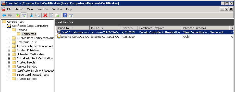 validate domain controller certificates