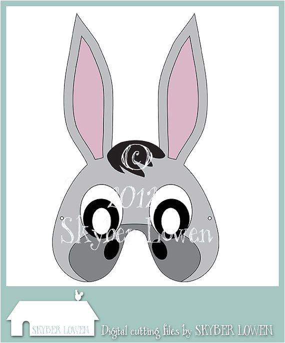 Donkey Face Mask Template Donkey Mask by Skyberlowen On Etsy 0 99 Christmas