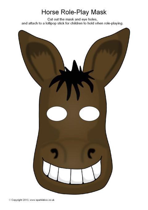 free printable donkey mask donkey mask to color
