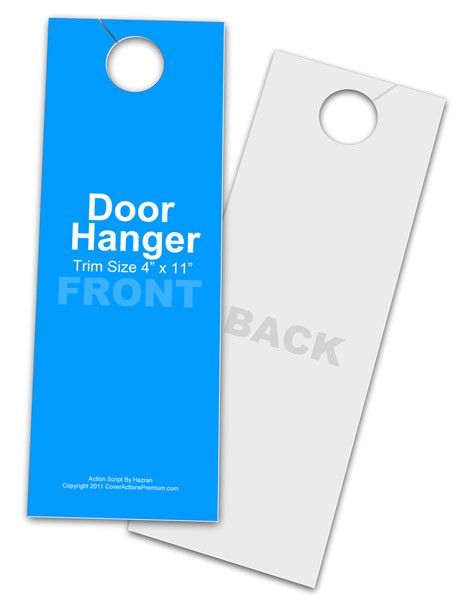 4 x 11 door hanger action script set
