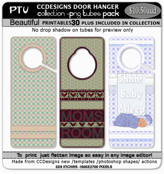Door Hanger Template Photoshop Door Hangers