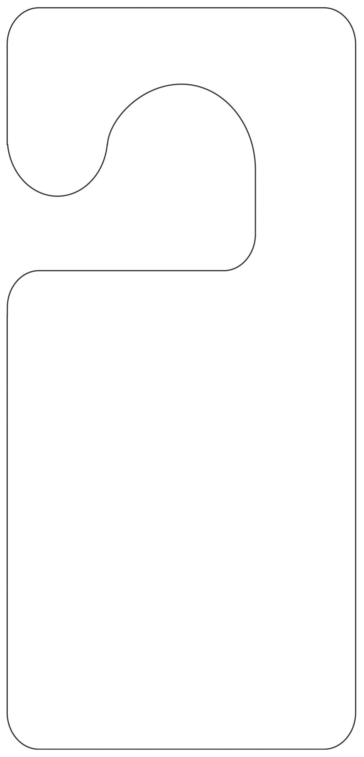 door knob sign template