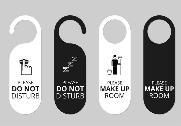 53433 hotel door hanger tags psd set