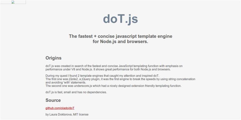 15 javascript template engines