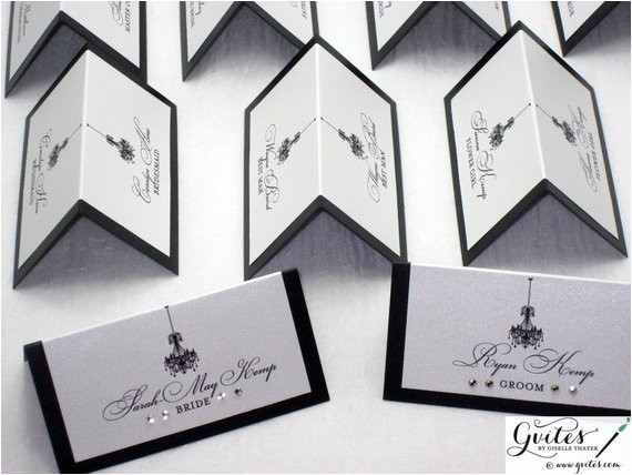 place card double sided wedding place