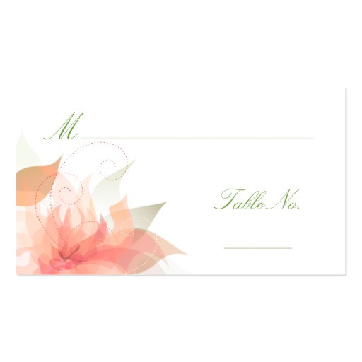 wedding escort guest place cards business card 240115996439085032