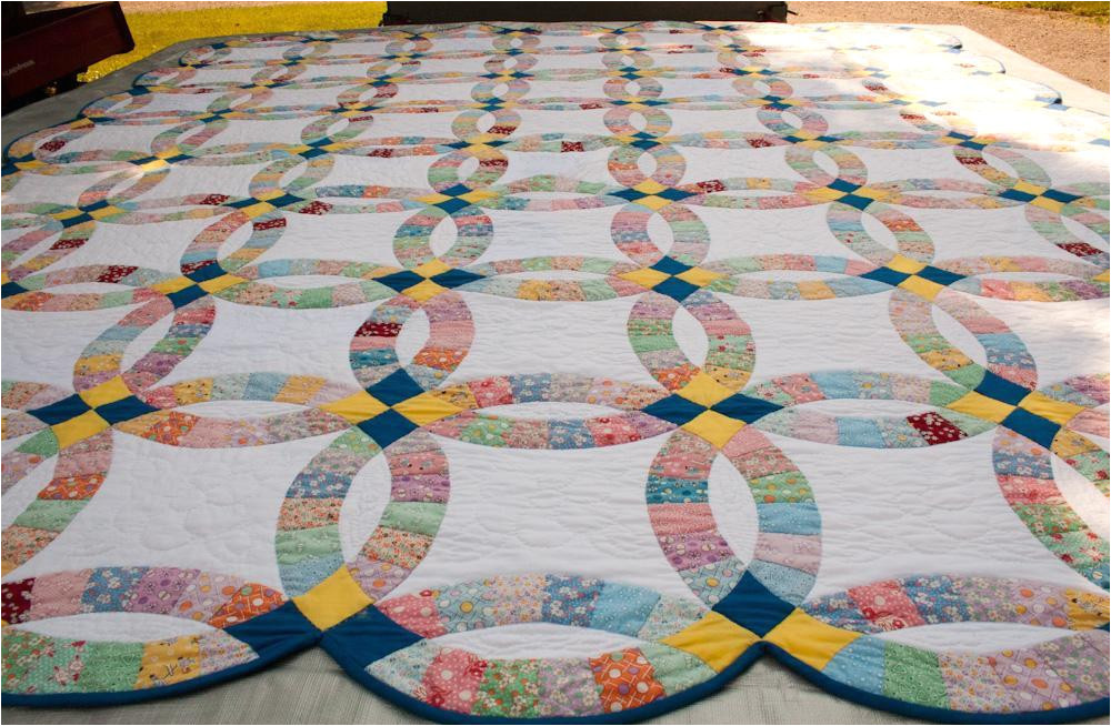 Double Wedding Ring Quilt Templates Free Double Wedding Ring Quilt History From Yesterday to today