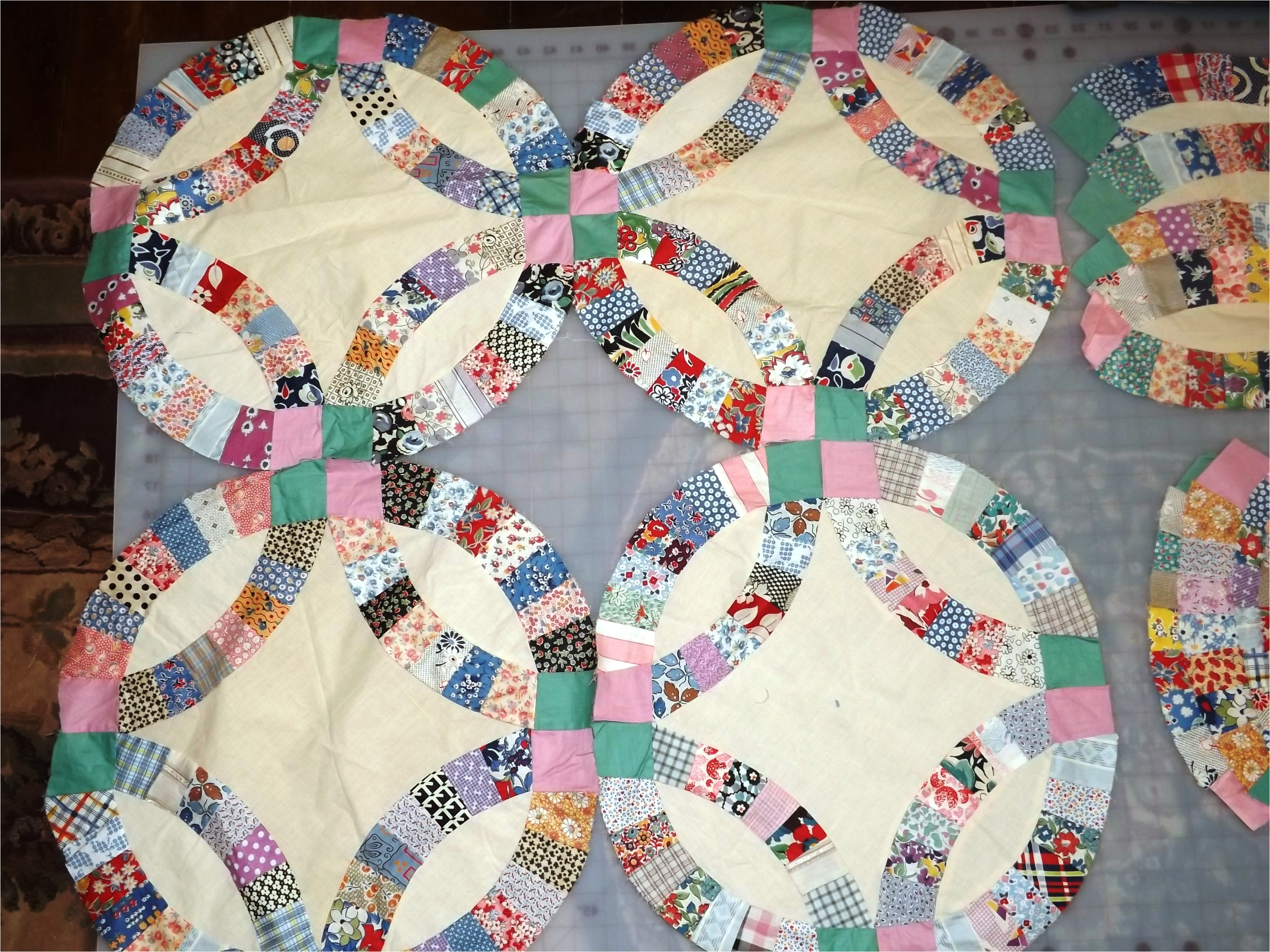 Double Wedding Ring Quilt Templates Free Double Wedding Ring Quilt Pattern Instructions Templates