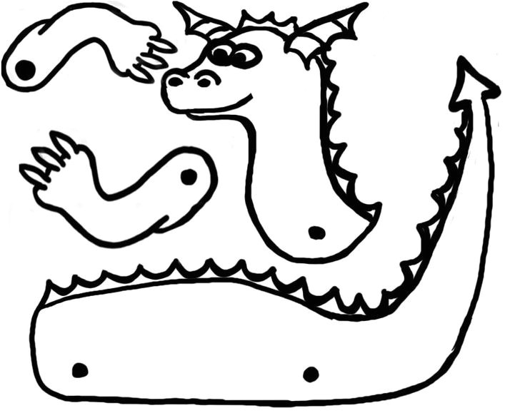 Dragon Cutout Template 64 Best Kids Activities Dragons Knights Castles Images