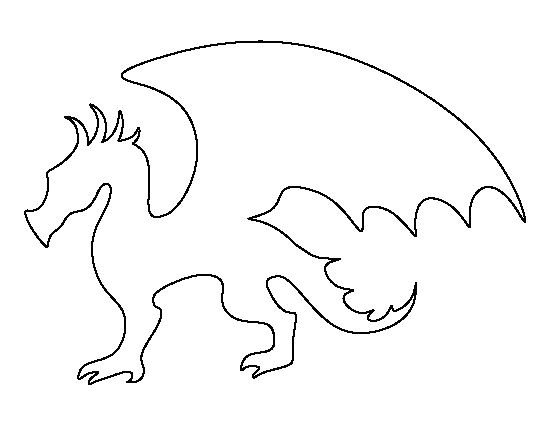 Dragon Cutout Template Dragon Pattern Use the Printable Outline for Crafts