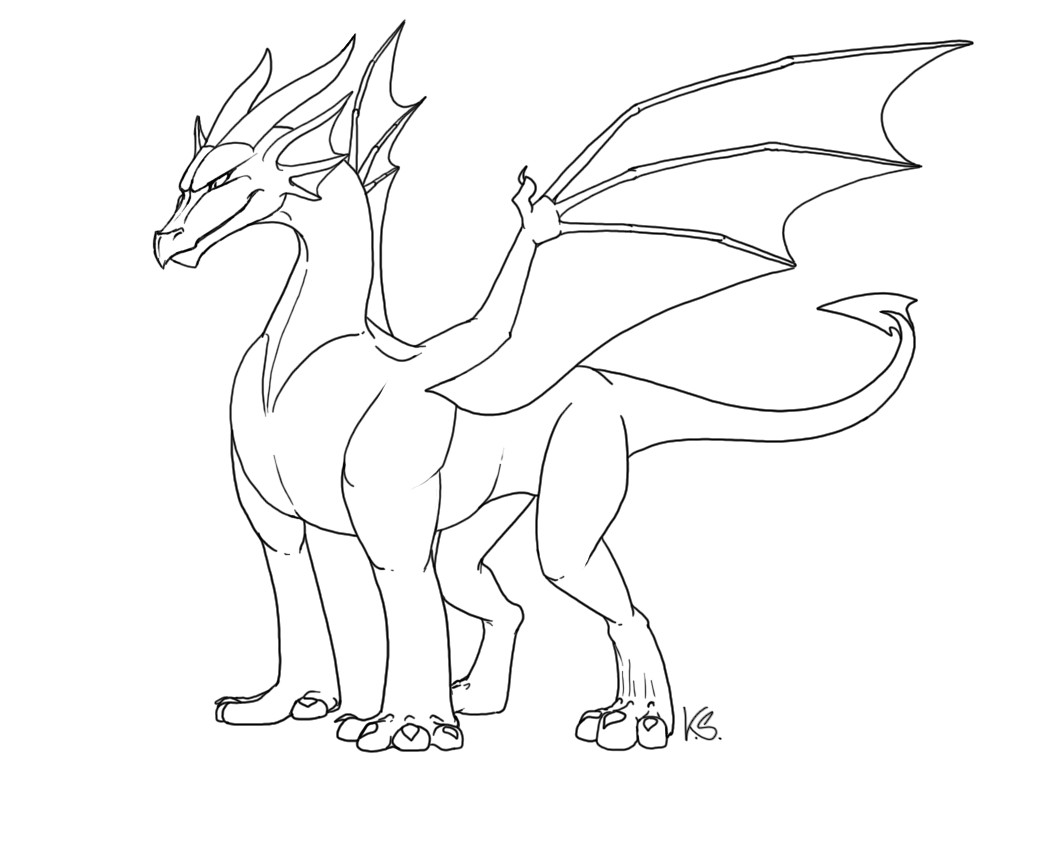 free dragon outlines ii 100828102