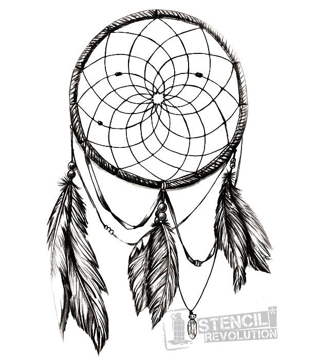 drawn 20dreamcatcher 20stencil