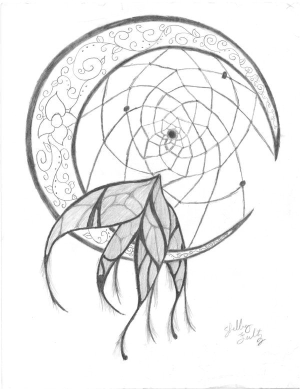 Dream Catcher Tattoo Template Dream Catcher by Stella126 On Deviantart