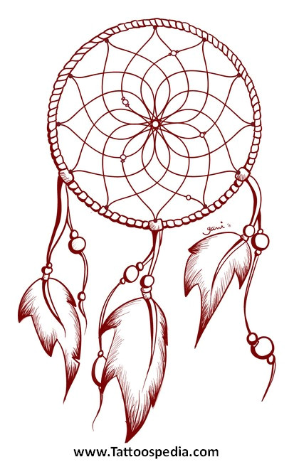Dream Catcher Tattoo Template Dreamcatcher Tattoo Outline 2