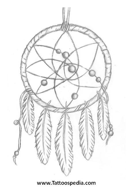Dream Catcher Tattoo Template Dreamcatcher Tattoo Outline 3
