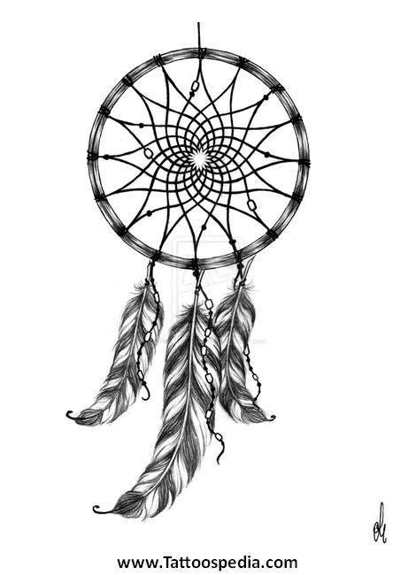 dreamcatcher tattoo template 2