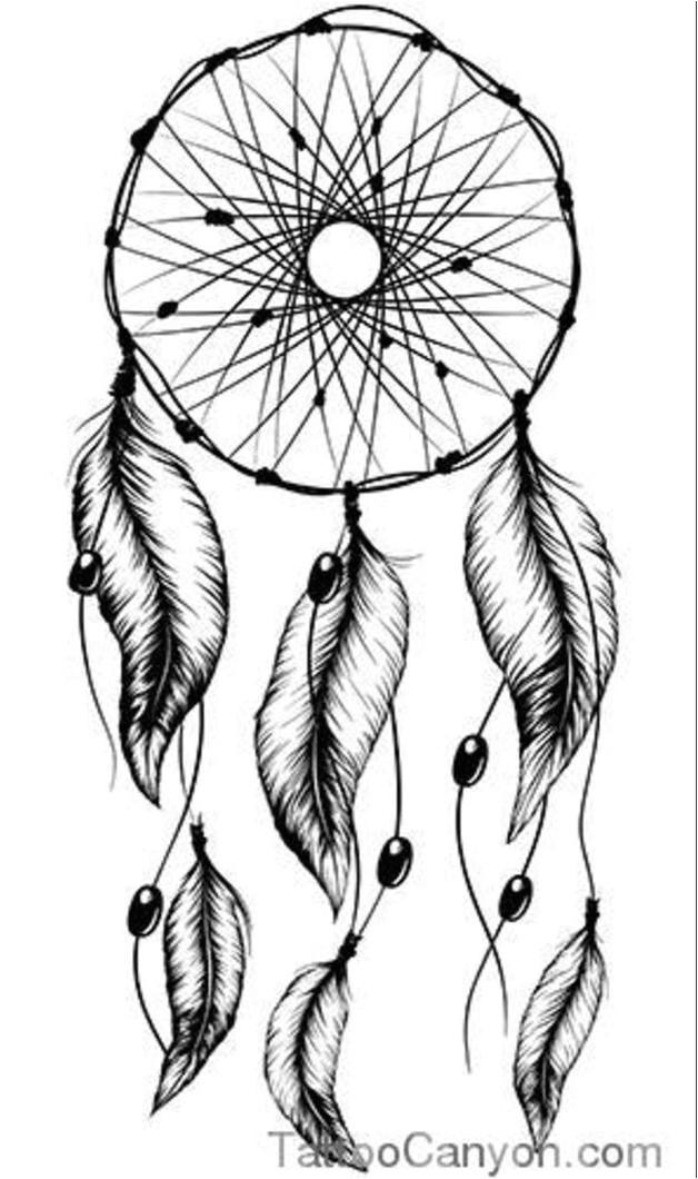 again dream catcher tattoo stencil