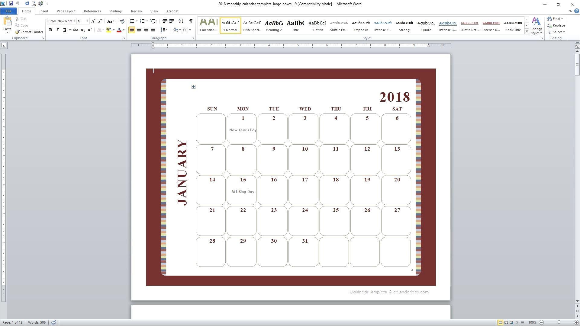 event calendar dreamweaver