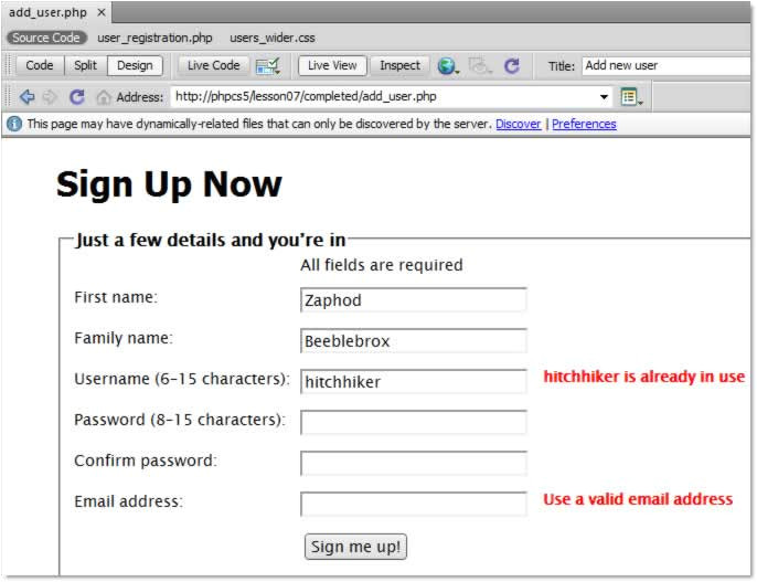 Dreamweaver form Templates Application form Online Registration form Template PHP
