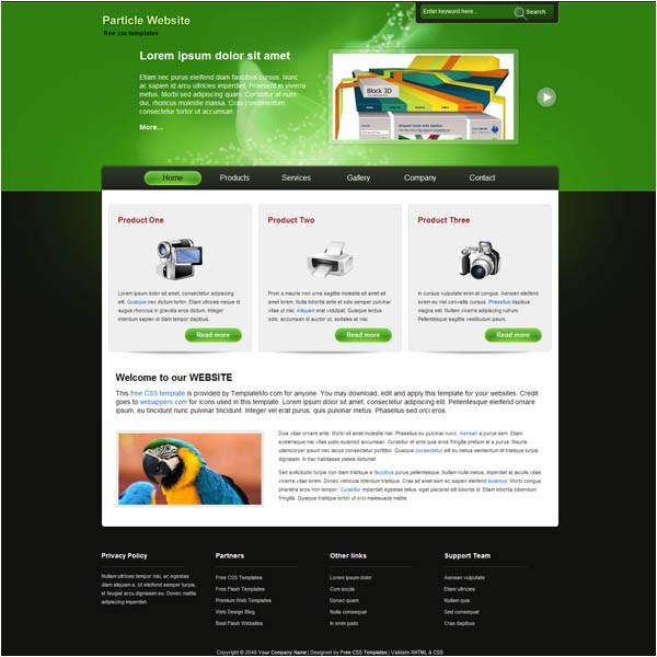 25 free dreamweaver templates