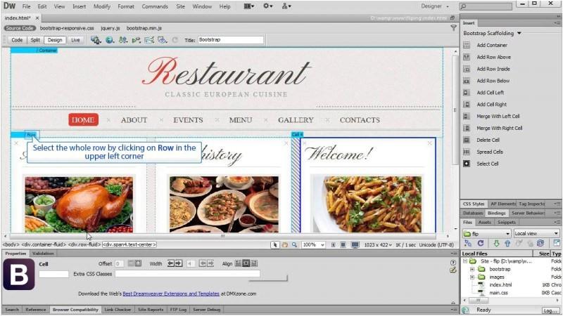 dreamweaver responsive template tutorial