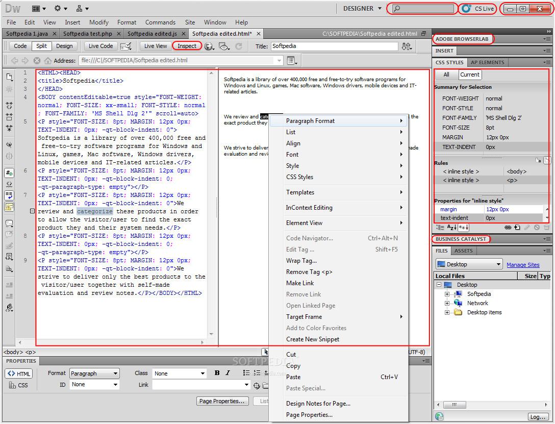 myspace layouts dreamweaver cs4