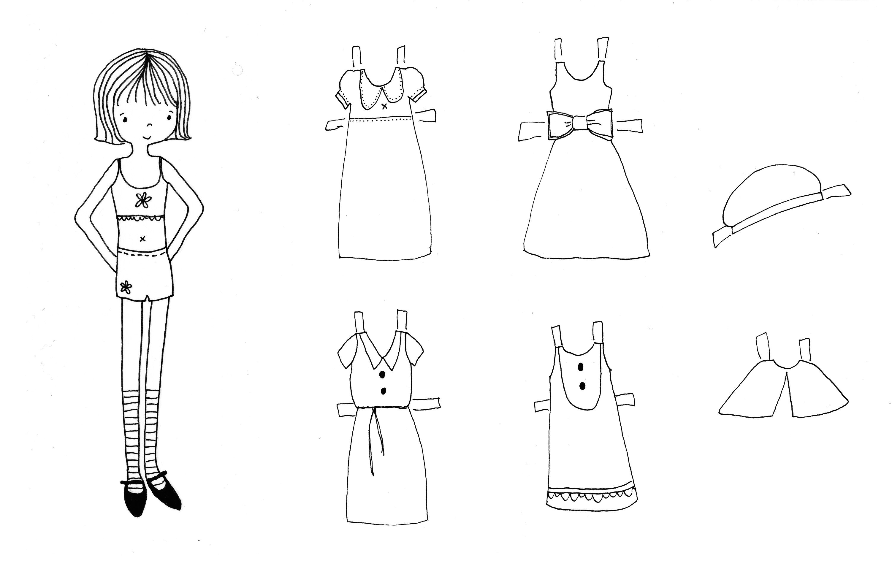 Dress A Doll Template Paper Doll Dress Template Www Imgkid Com the Image Kid