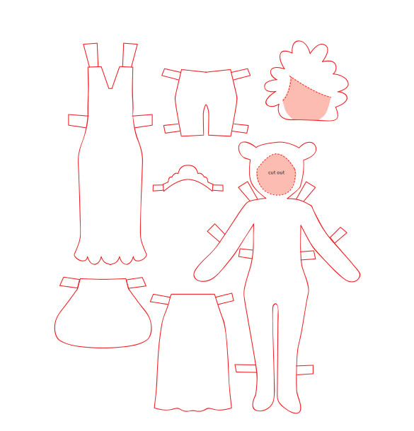 Dress A Doll Template Paper Doll Template