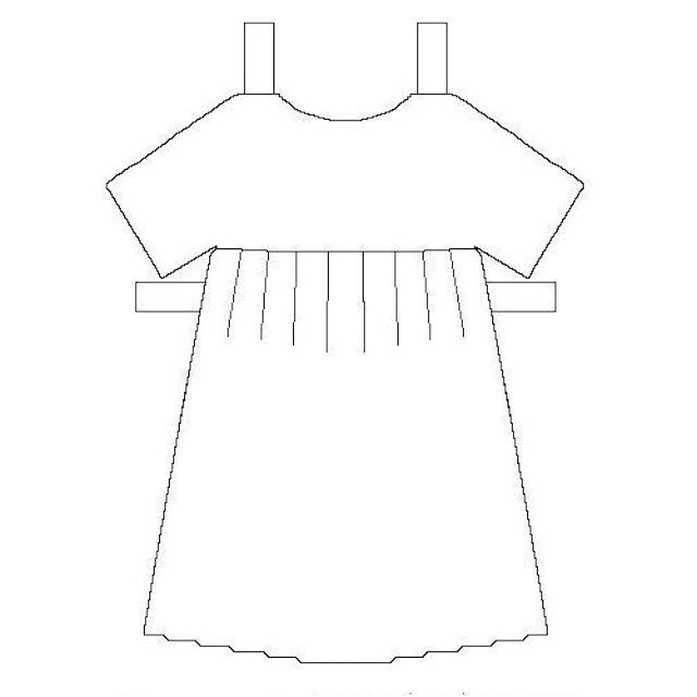 Dress A Doll Template Printable Paper Dolls Clothes and Accessories