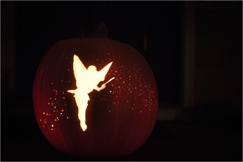 tinker bell carved with a drill pumpkin carving art know your meme