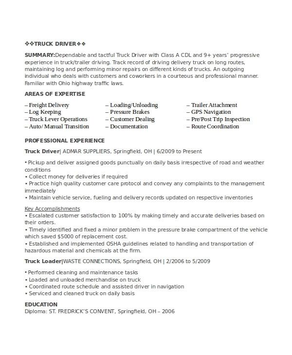 driver resume