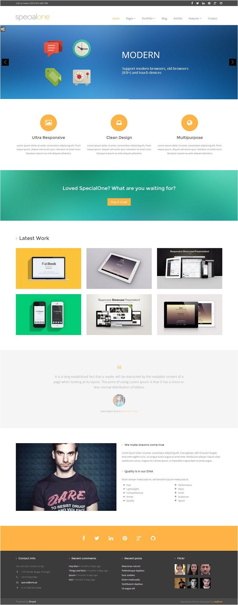 Drupal 7 View Template Specialone Responsive Drupal 7 Business Portfolio Template