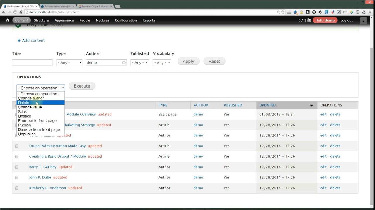 Drupal Admin Template Administration Views Module for Drupal 7 Essential Module