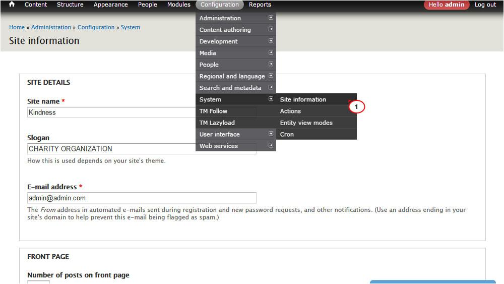 Drupal Admin Template Drupal 7 X Wie Man Den Webseitennamen Und Das Slogan