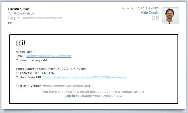 contact form email template in shopify simple