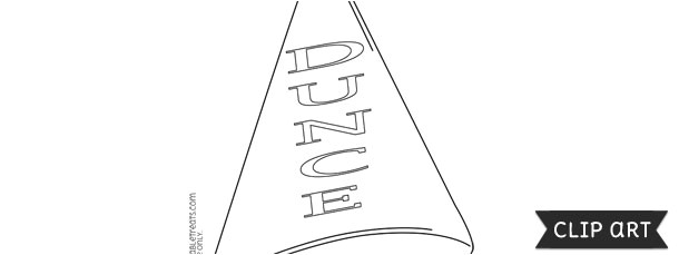 dunce cap template clipart