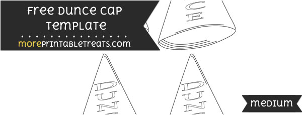 Dunce Hat Template Dunce Cap Template Small