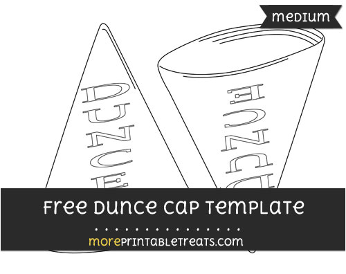 dunce hat template