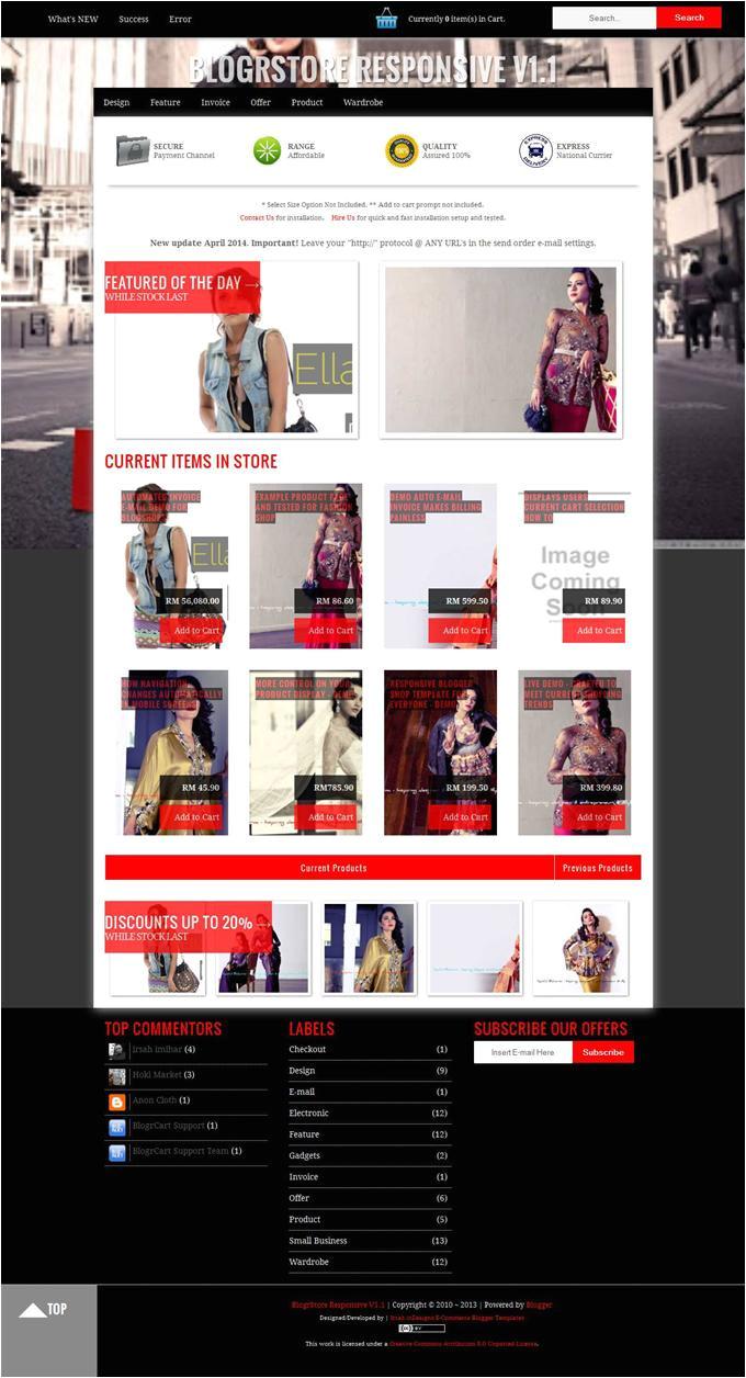 E Commerce Blogger Template 7 Best Free Responsive E Commerce Blogger Templates