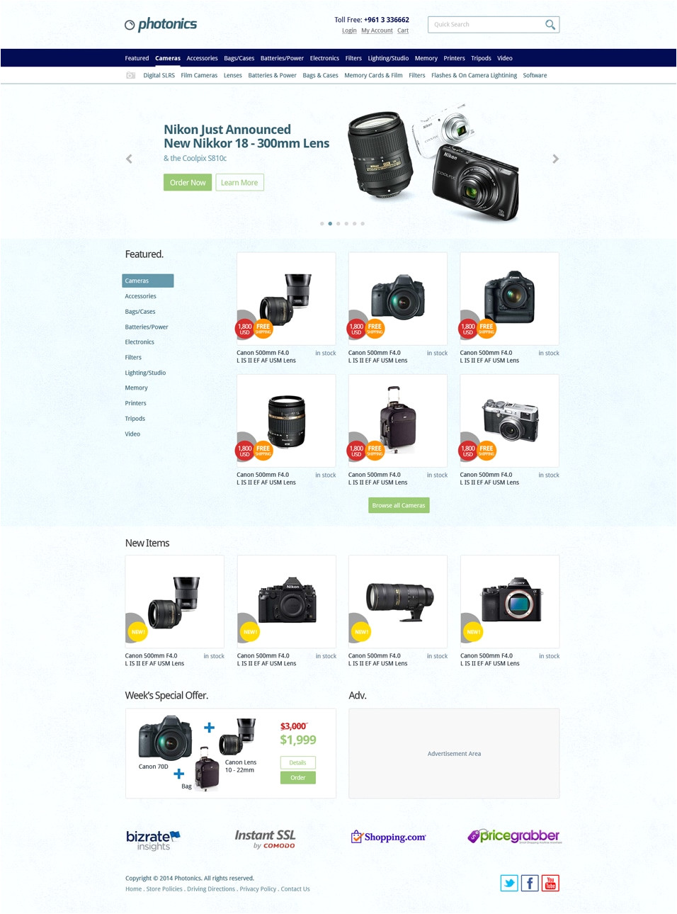 E-commerce Site Templates Free Ecommerce Web Templates Psd Css Author