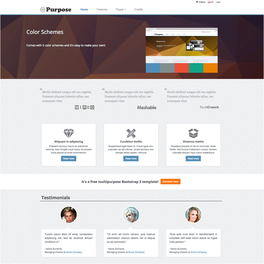 E-commerce Site Templates Mpurpose Free Responsive Ecommerce Website Template
